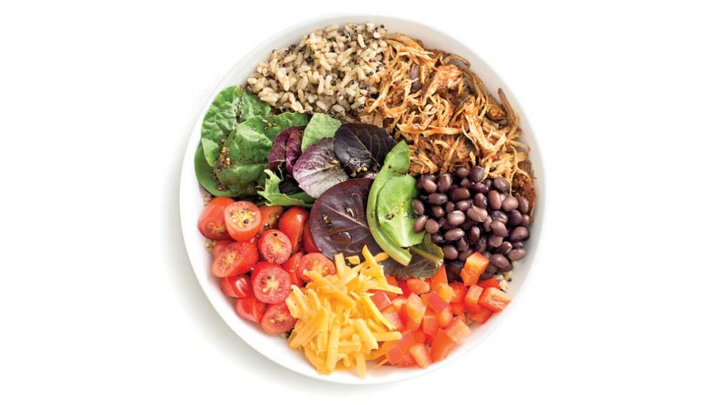 Pulled Chicken Nourish Bowl