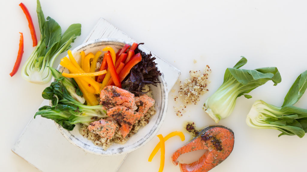 Salmon Quinoa Nourish Bowl